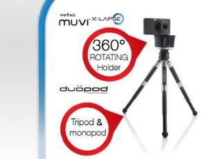 Veho Set mit Muvi X-lapse -360 ° Rotating Kamerahalterung und Duopod!
