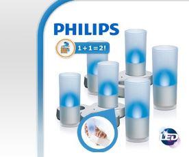 Philips Imageo 2 x 3 LED wiederaufladbare CandleLights!
