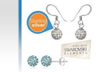 Zwei Paar Ohrringe mit Swarovski Elementen nur für 19,95€!