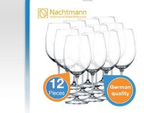 Nachtmann zwölf stilvolle Rotweingläser für nur 24,95€!