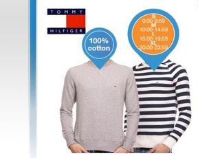 Doppelpack Tommy Hilfiger Pullover - grau und blau-weiß gestreift Größe S