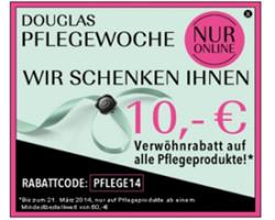 Douglas neue code für March 2014