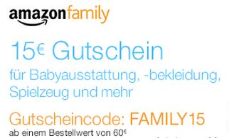 Amazon Family: 15 EUR Gutschein!