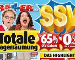 Totale Lagerräumung bei ROLLER mit bis zu 65% Rabatt!