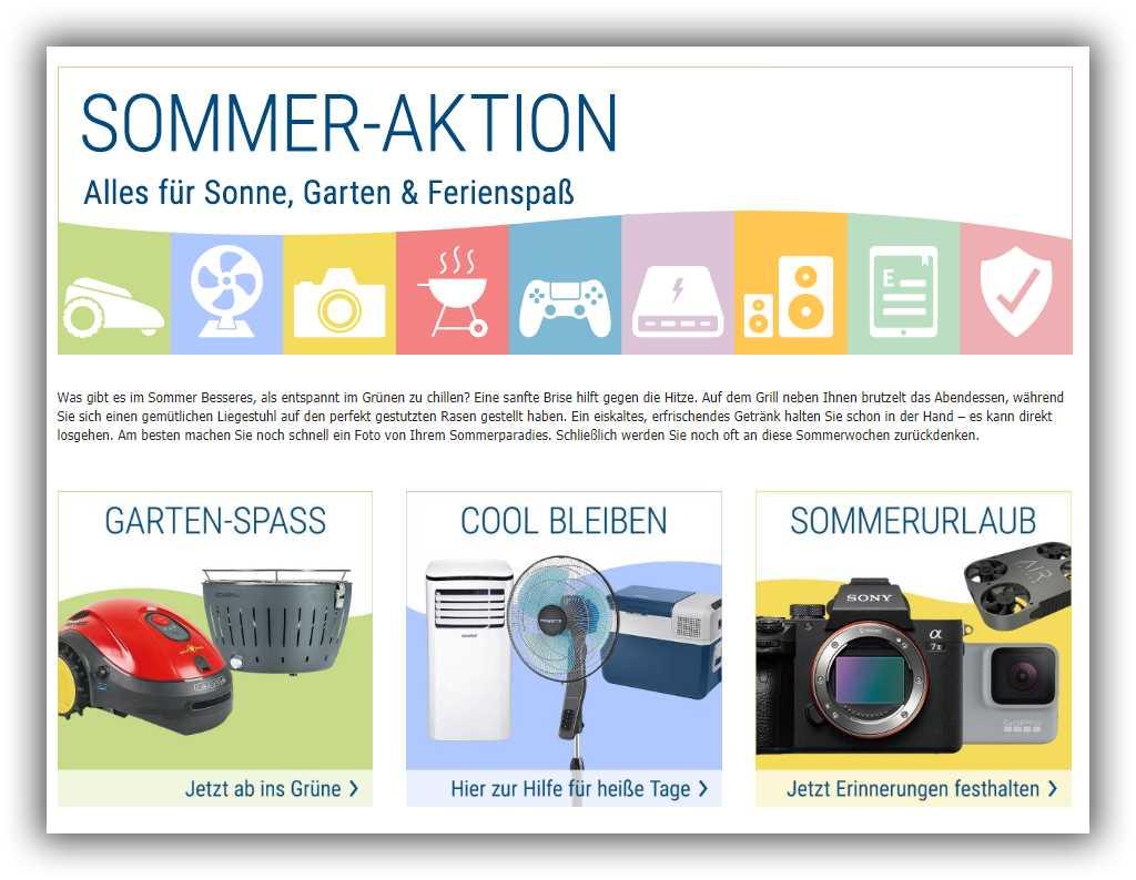 Sommer Aktion für Sonne, Garten und Ferienspaß bei Cyberport