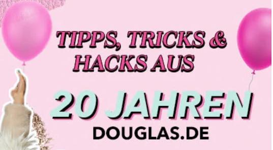 Douglas.de 20 % auf alles Happy birthday