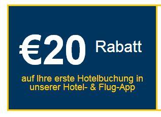 用Expedia.de新开发的App订旅馆,立减20欧!