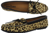 美国软皮鞋第一品牌迷你唐卡MINNETONKA豹纹船鞋4折