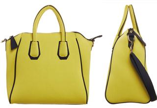 比利时品牌Essentiel Antwerp亮黄色肩背手提两用包包只要72欧