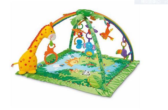 著名的fischer-price 费雪热带雨林游戏毯,亚马逊仅售44,99欧!