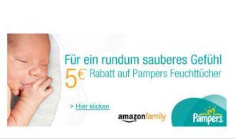 加入Amazon Family,每周都有实用优惠!本周赠送5欧优惠码购买Pampers湿纸巾!