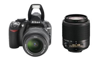 尼康单反相机D3100配2个镜头仅349欧元