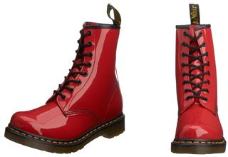英国时尚品牌Dr. Martens8孔亮红色马丁靴5折特卖,只要64.95欧!