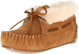 Minnetonka迷你唐卡皮毛一体女童踝靴5折,只要33欧!号码齐全且直邮全球