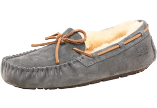 UGG DAKOTA舒适纯羊毛内里皮绳装饰女士单鞋便鞋船鞋5折,只要59.95欧