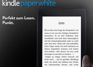 自带背光的Kindle paperwhite直降30欧!