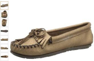 迷你唐卡船鞋,古铜金爆裂皮,仅售30,71欧起!