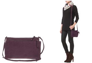 法国时尚品牌American Vintage CALVIN紫色单肩背包3折起,只要47.95欧