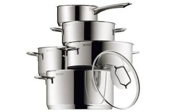 今日限时抢购德国WMF5件套厨房不锈钢锅
