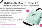 火到爆的douglas box of beauty再度开放订阅,每月15欧,惊喜多多!