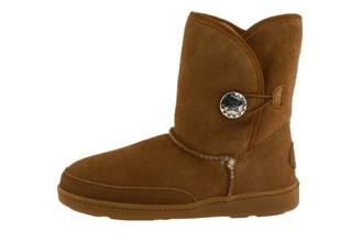 Minnetonka迷你唐卡Side Button Classic Pug Boot 单扣雪地靴只要90欧