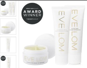 Eve Lom获奖3件套装(洁面、面膜、面霜)特价81英镑!免运费直邮中国