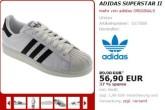 adidas superstarII阿迪达斯经典贝壳鞋,折扣至56,9欧!