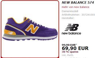 紫色新款New Balance574,直降30欧!