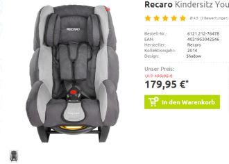 直邮中国的Recaro Young Expert安全座椅,黑米哥哥的同品牌选择!