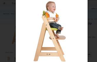 roba原木高椅,9个月到12岁的好伴侣,折扣价36,99欧!