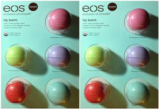 EOS球形天然有机润唇膏5只不同口味装只要20.29欧!免费寄送德国境内!