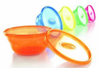 努比nuby带盖彩虹零食碗, 6个仅售5,99欧!