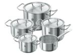 德国双立人厨房不锈钢锅5件套只要178欧