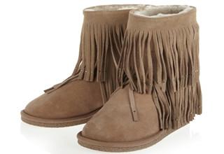 KOOLABURRA流苏羊皮靴39码不到2折,只要60,95欧