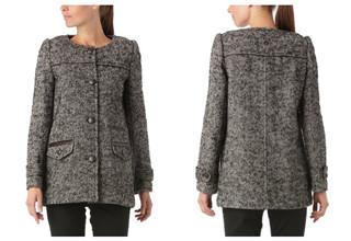 法国时尚品牌Kookai短款羊毛大衣35折,只要79,98欧