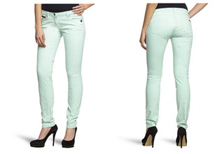 荷兰女装品牌Maison Scotch薄荷绿休闲修身小脚女裤只要26,99欧