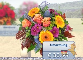 lidl-blumen.de买满20欧的鲜花85折啦!