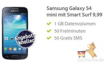 每月1G高速流量,50个短信50分钟免费通话,白送三星galaxy s4 mini!