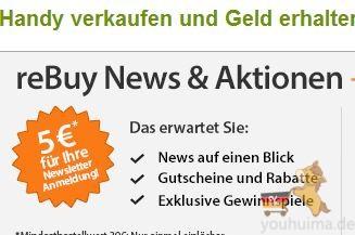 把不用的手机卖给rebuy,多额外获得15欧元!