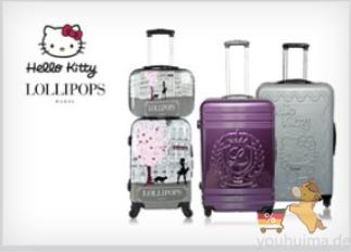 LOLLIPOPS和Hello Kitty的行李箱套装低至两折