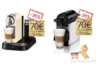 Nespresso全自动咖啡机直邮中国返利70欧元