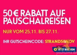 ebookers为您的旅游买单50欧!
