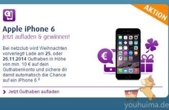 无合同限制,月租0欧起的netzclub现有抽奖好礼送iphone6