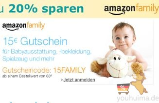 amazon family新成员满60欧减15欧,尿布常年8折