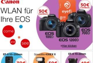 佳能多款相机返款并送 Eyefi WiFi 储存卡