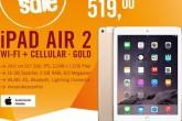 最新款Apple iPad air 2 4G版本土豪金全德最低价519欧
