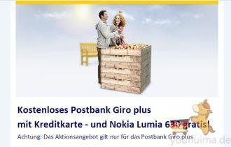 Postbank开户免费附信用卡还有诺基亚Lumia630