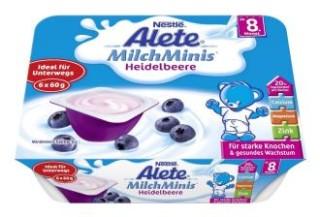 雀巢婴幼儿酸奶蓝莓味八支装14,80欧