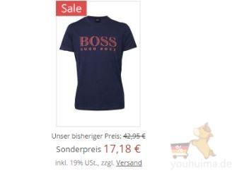 hugo boss男士短袖T Shirt 4折起,还带UPF50+防晒