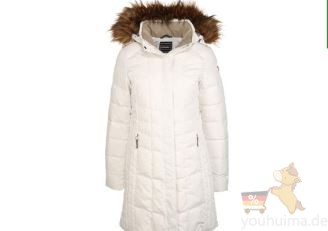 icepeak女士中长款羽绒服6折啦,黑白两色可选